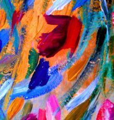 "Saatchi Art Artist Nada  Sucur Jovanovic; Painting, ""Gold & Red Pink"" #art"
