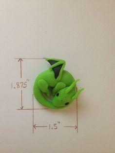Lime Green Clay Dragon. $10.00, via Etsy.