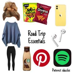Travel Packing Checklist, Road Trip Packing List, Road Trip Hacks, Travelling Tips, Packing Lists, Road Trips, Travel Bag Essentials, Road Trip Essentials, Road Trip Outfit