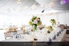 Reception in the Garden Tent - Photo by Matt Yung Photography