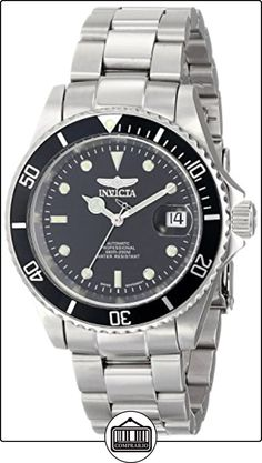 b19f983e73e7 Invicta Men s 9937 Pro Diver Collection Coin-Edge Swiss Automatic Watch A  clean black dial distinguishes this durable