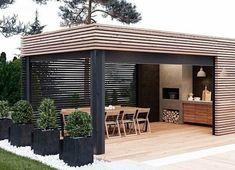 Outdoor Patio Designs, Outdoor Pergola, Outdoor Kitchen Design, Outdoor Rooms, Outdoor Living, Modern Patio Design, Modern Gazebo, Terrace Design, Backyard Garden Design