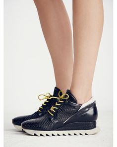 Free People | Black Stanley Woven Trainer | Lyst
