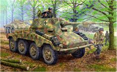 Sd.Kfz. 234/2 (8 Rad) Panzerspähwagen 5cm «Puma», «numero tactico 022». 20. Aufklärungs Abteilung, 20.ª Panzerdivision, Bohemia 1945. http://www.elgrancapitan.org/foro/viewtopic.php?f=12&p=896632#p896632