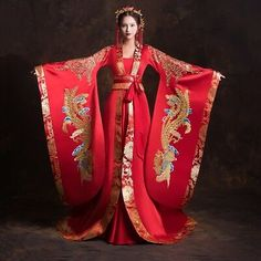Red Dresses Chinese Traditional Han Dynasty Wedding Costumes Size Asian S-xl New Chinese Clothing Traditional, Chinese Wedding Dress Traditional, Traditional Fashion, Traditional Dresses, Red Chinese Dress, Chinese Gown, Chinese Bride, Chinese Outfit, Hanfu