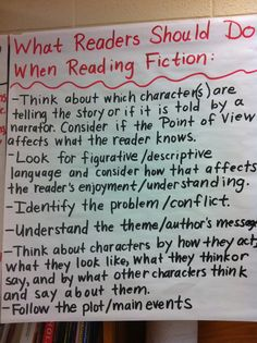 I think type this up for the students to refer to it for each genre.  Middle School Teacher to Literacy Coach