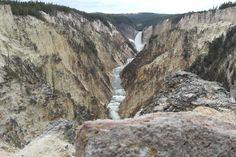 Lower Yellowstone Falls and Yellowstone River, Yellowstone National Park, WY
