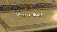 """We hear the word """"jihad"""" used all over the media, but what does it really mean? An Imam, a Muslim youth worker and a Muslim journalist describe what jihad means to them."""