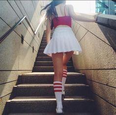 Retro High Waist Pleated Skirts