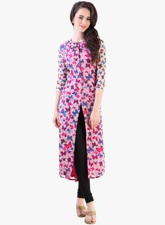 Buy Libas Pink Printed Kurta for Women Online India, Best Prices, Reviews | LI425WA08OVFINDFAS
