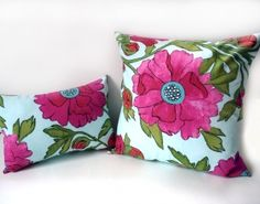 SPRING FLORAL PILLOW SET, BOLD BRIGHT