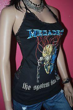 DIY Megadeth Halter top Shirt Metal rock Dave Mustaine XS-XL
