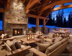 Winter warmth in a fabulous Montana mountain retreat