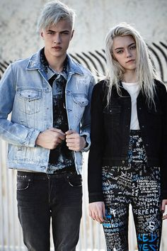 Lucky Blue Smith and Pyper America for Ksubi Fall 2015