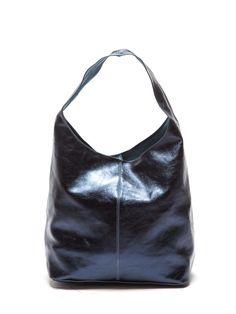 Blueberry blue Hobo bag by Viola Castellani