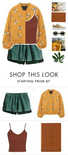 """""""R O M A N I A"""" by dreyanaxo ❤ liked on Polyvore featuring H&M, Topshop, NIKE, Royce Leather, vintage, floralprint, autumn and newchic"""