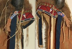 Buffalo Horn Headdress, detail,  made by Bill and Kathy Brewer