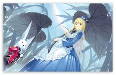 Alice In Wonderland And The White Rabbit Anime HD desktop wallpaper : High Definition : Fullscreen