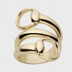 GUCCI Jewelry Yellow Gold Horsebit CONTRAIRE Ring in 18k   #jrdunnjohnhardyfavorites