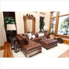 Family Room: Amazon.com: Corsario Leather Sectional Orientation: Left Arm Facing Sofa: Home & Kitchen