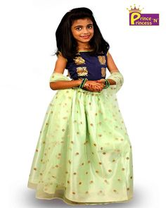 PrinceNPrincess E-Commerce online Shopping - Kids Navy Blue Light Green Sequence Prince N Princess Lehenga Choli Kids Lehenga Choli, Lehenga Choli Online, Pink Sky, Pink Yellow, Navy Blue, Party Frocks, Party Gowns, Pathani Kurta, Western Girl