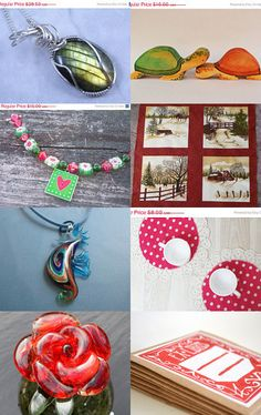 Red and Green for Christmas in July by Lisa Wells on Etsy--Pinned with TreasuryPin.com