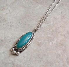 Gem Silica Necklace Chrysocolla Sterling Silver Vintage by cutterstone on Etsy Station Necklace, Turquoise Pendant, Simple Necklace, Sterling Silver Necklaces, Gemstone Jewelry, Jewelry Design, Designer Jewelry, Vintage Jewelry, Pendant Necklace