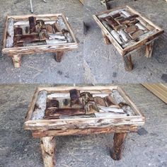 coffee table from reclaimed woods