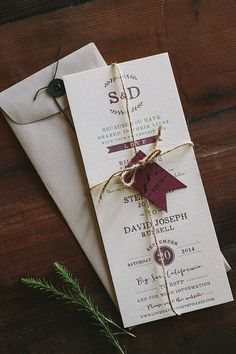 Letterpress Wedding Invitation: Floral and Rustic Big Sur inspired