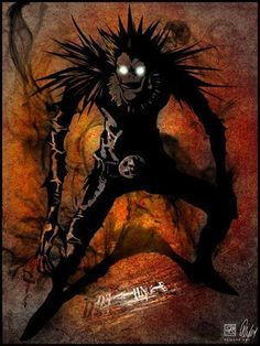 Death Note manga series. Isn't Ryuk the true villain? In a way you could see Light as a victim as well as a murderer.