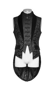Punk Rave Men Victorian Steampunk Vampire Gothic Aristocrat Elegant Vest Jacket