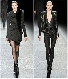 I love the spider web like seams at the waist on the right hand look.