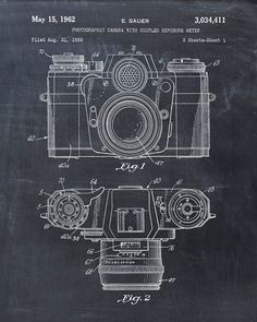 A very cool totally free last minute gift idea for fathers day patent print of a photographic camera patent art print patent poster malvernweather Gallery