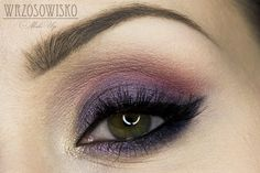 Wrzosowisko- MakeUp Blog: Velvet night. Dramatic colorful makeup