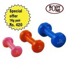 bodyone vinyl dumbbells