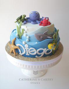 Sea birthday cake/ Catherine's Cakery