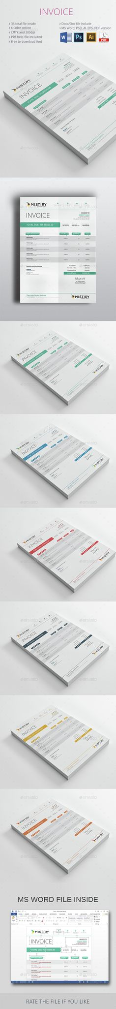 invoice template design - Recherche Google DEVIS Pinterest - product invoice