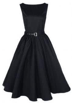 """OSEZ PIN UP La robe rétro """"AUDREY HEPBURN"""" fera partie des incontournables de votre garde-robe. Se déclinent en différents coloris (noir, rouge, mauve,...) Disponible en pré-commande sur www.osezpinup.com."""