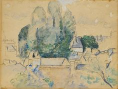 Paul Cézanne (French, 1839-1906)  View of Pontoise, 1877 – 1882  Watercolor on paper