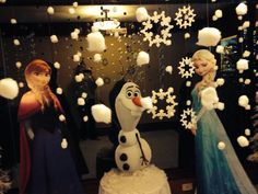 Frozen bday party entrance