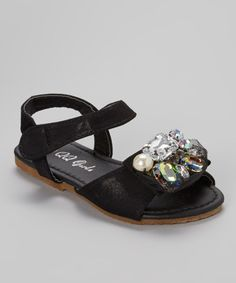 Another great find on #zulily! QQ Girl Black Jewel Julia Sandal by QQ Girl #zulilyfinds