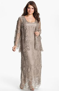 OMG LOVE LOVE LOVE this for my mom. Soulmates Crochet Dress & Jacket (Plus) available at #Nordstromweddings