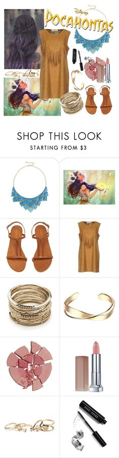 """pocahontas."" by kimberlymarievincent ❤ liked on Polyvore featuring George J. Love, Aniye N*2, Sole Society, Charlotte Tilbury, Maybelline, GUESS and Bobbi Brown Cosmetics"