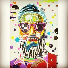 I'm Pop, mixed media on canvas, 70x50 cm, 2015, www.francescomessina.net