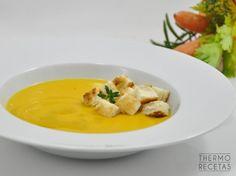 Crema de zanahorias y arroz