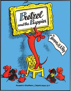 Pretzel and the Puppies by Margaret Rey, illustrations by H. Rey, the story of the world's longest dachshund and 5 little puppies. Books To Buy, Books To Read, Funny Animal Pictures, Funny Animals, Dog Books, Story Of The World, Little Puppies, Vintage Children's Books, Childrens Books