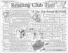 NEW YEARS AROUND THE WORLD -  Celebrations Around the World (Understanding Diverse Cultures and Traditions) Two-Page Activity Set � New Years Crossword Puzzle (Puzzle Pals)