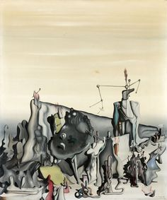 Untitled by Yves Tanguy, 1933. Oil on canvas, 55 x 46 cm.