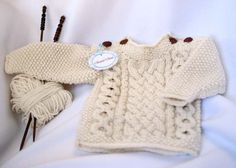 cable newborn sweater