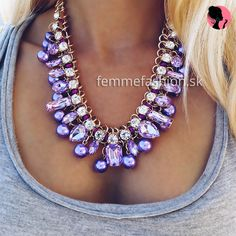 Náhrdelník Picasso Purple #necklace #necklaces #accessories #bijouterie #bizuteria #nahrdelník #jewelry  http://femmefashion.sk/nahrdelniky/2533-nahrdelnik-picasso-purple.html